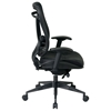 Space Seating 818 Series Executive High Back Office Chair with Leather Seat - OSP-818-41G9C18P