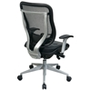 Space Seating 818 Series Executive High Back Office Chair with Platinum Finished Base - OSP-818-41R9C18R