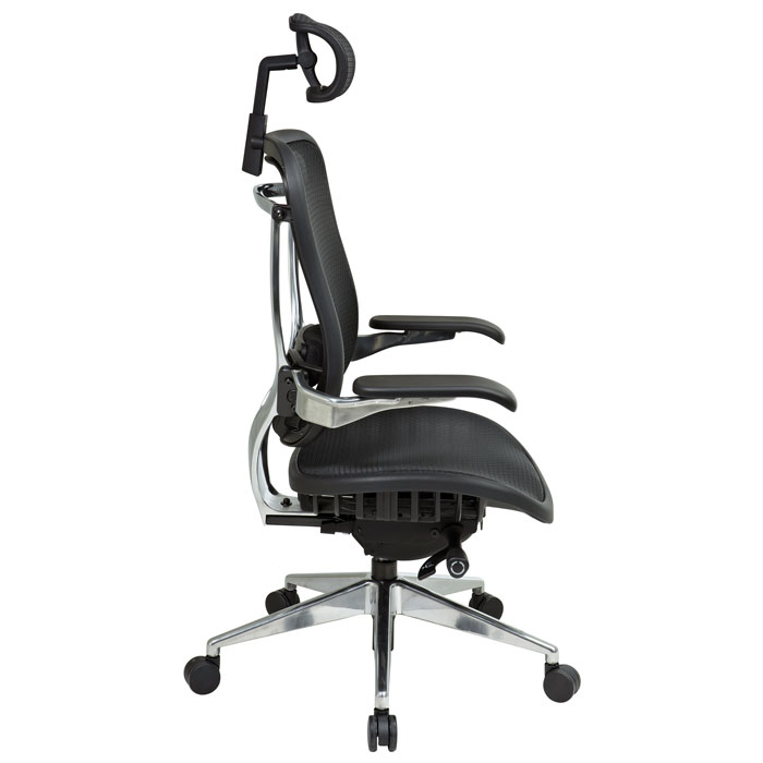 Space Seating 818A Series Executive Mesh Office Chair with Cantilever Arms - OSP-818A-11P9C1C3-HRX818