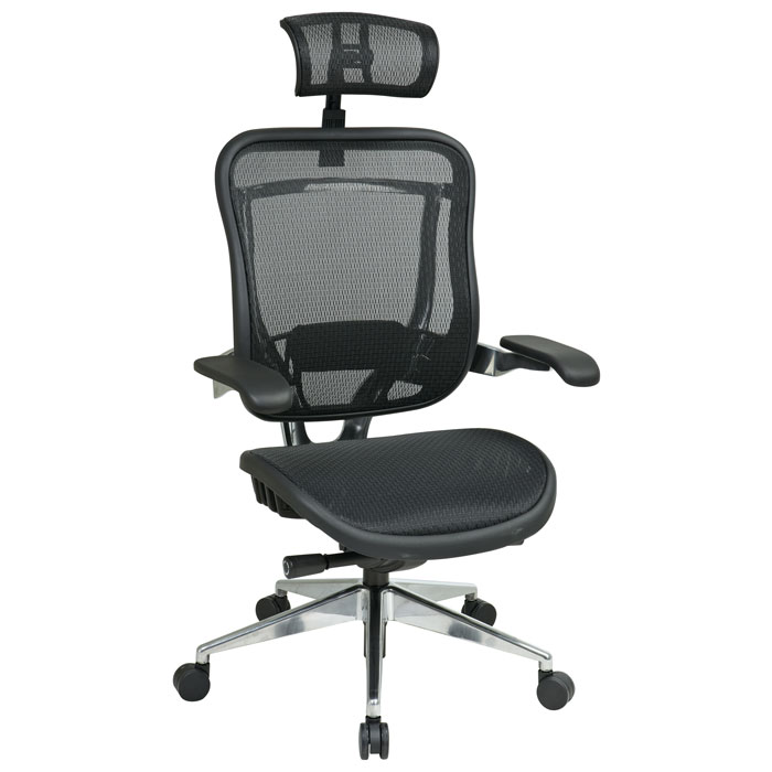 Space Seating 818A Series Executive Mesh Office Chair with Cantilever Arms