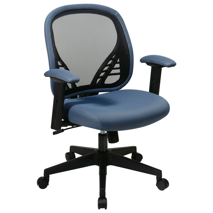 Space Seating 819 Series DuraGrid Back and Blue Mist Mesh Seat Manager's Chair - OSP-819-73N8WF