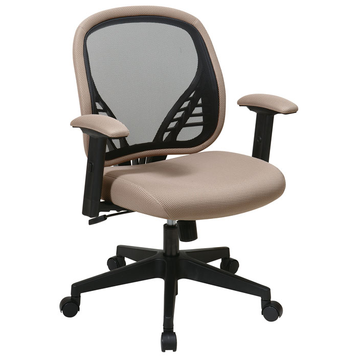 Space Seating 819 Series DuraGrid Back and Latte Mesh Seat Manager's Chair - OSP-819-83N8WF