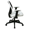 Space Seating 819 Series DuraGrid Back and White Vinyl Seat Manager's Chair - OSP-819-Y13N8WV