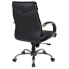 Pro-Line II 8201 - Deluxe Mid Back Leather Office Chair with Curved Padded Arms - OSP-8201