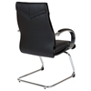 Pro-Line II 8205 - Deluxe Black Leather Visitor's Chair with Chrome Sled Base - OSP-8205