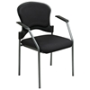 Pro-Line II Titanium Finished Frame Stacking Visitor's Chair with Nylon Arms - OSP-82710
