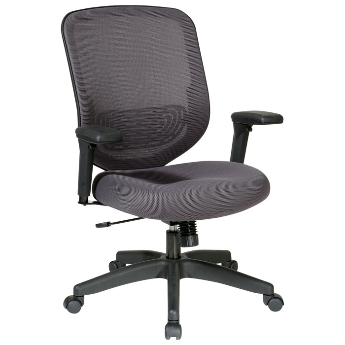 Space Seating 829 Series Charcoal Mesh Seat and Back Office Chair - OSP-829-1N2U