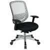Space Seating 829 Series White DuraFlex with Black Mesh Seat Office Chair - OSP-829-3R1C628P
