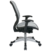 Space Seating 829 Series White DuraFlex Office Chair with Platinum Finished Base - OSP-829-R11C628P