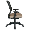 Space Seating 829 Series Charcoal DuraFlex Back Office Chair with Fabric Seat - OSP-829-R2C728P