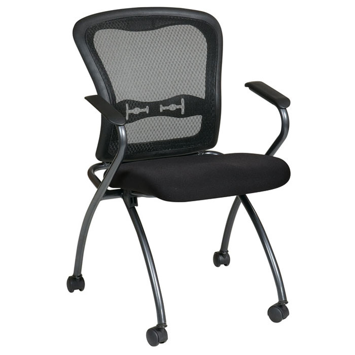 Pro-Line II Folding Deluxe ProGrid Back Chair with Nylon Arms (Set of 2) - OSP-84440
