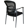 Pro-Line II Stacking Visitor's Chair with Titanium Finished Legs - OSP-84510