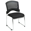 Pro-Line II Stacking Charcoal FreeFlex Visitor's Chair with Chrome Sled Base (Set of 2) - OSP-8455C2-30