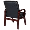 Pro-Line II 8505 - Deluxe Leather Visitor's Chair with Wood Legs - OSP-8505