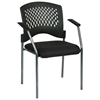 Pro-Line II Stacking Visitor's Chair with Ventilated Plastic Wrap Around Back - OSP-8610
