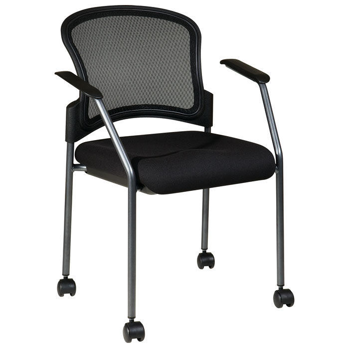 Pro-Line II Stacking Visitor's Chair with Dual Wheel Carpet Casters - OSP-86740