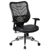 Space Seating 88 EPICC Series Black Vinyl Seat Executive Chair - OSP-88-Y33BP91A8