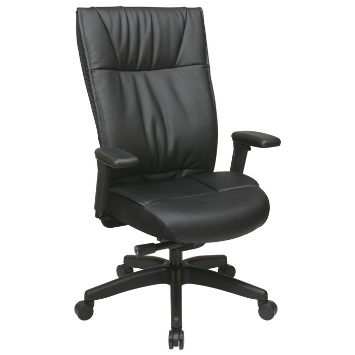 Space Seating 937 Series Contemporary Leather Executive Chair - OSP-9370-55NC17U