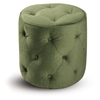 Curves Tufted Spring Green Round Ottoman - OSP-CVS905-G28