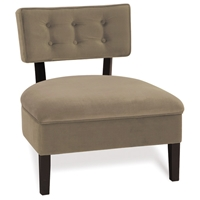 Curves Coffee Button Back Chair