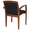 Kenwood Black Fabric Seat and Back Guest Chair in Light Cherry Finished Frame (Set of 2) - OSP-KEN-1292-LCH