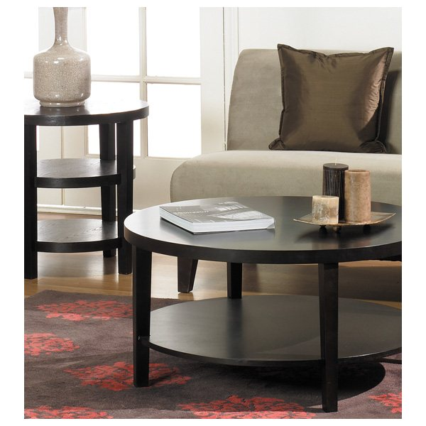 Avenue Six Merge 20'' Round End Table - OSP-MRG09