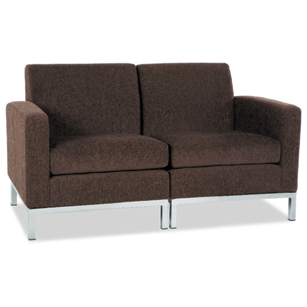 Park Avenue Chocolate Chenille Loveseat