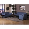 Contemporary Fabric Sofa with Cherry Finished Feet - OSP-SF8473