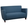 Custom Fabric Loveseat with Wide Track Arms - OSP-SF8472