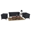 Contemporary Flared Arm Loveseat in Black Leather - OSP-SL15X2
