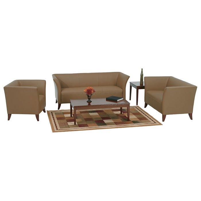 Armchair, Loveseat, and Sofa Set in Taupe Leather - OSP-SL1871-SL1872-SL1873