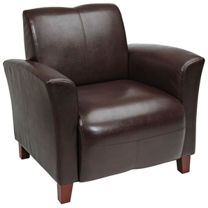 Breeze Club Chair in Mocha Eco-Leather