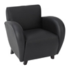 Eleganza Armchair, Loveseat, and Sofa Set in Black Eco-Leather - OSP-SL2431EC3-SL2432EC3-SL2433EC3