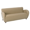 Eleganza Taupe Eco-Leather Armchair, Loveseat, and Sofa Set with Cherry Finished Feet - OSP-SL2471EC11-SL2472EC11-SL2473EC11