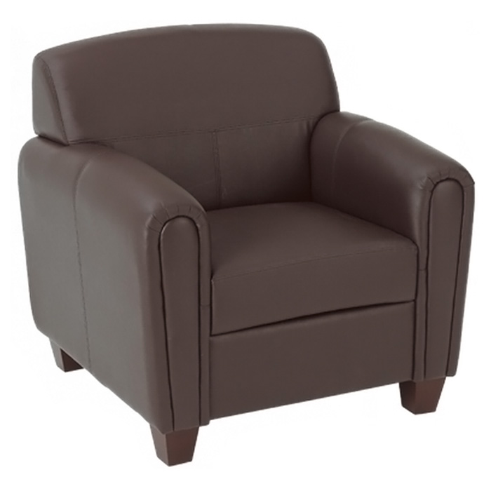 Pillar Armchair, Loveseat, and Sofa Set in Espresso - OSP-SL2571U1-SL2572U1-SL2573U1