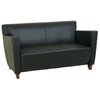 Leather Loveseat with Cherry Finished Feet - OSP-SL8X72