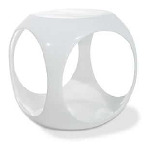 Avenue Six Slick Cube White Occasional Table