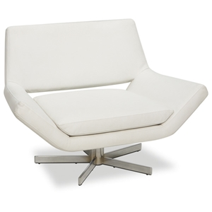 Avenue Six Yield White 40 Wide Chair