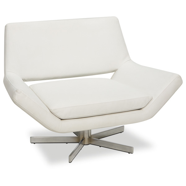 Avenue Six Yield White 40'' Wide Chair