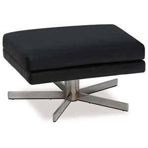 Avenue Six Yield Black Ottoman