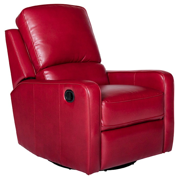 Perth Modern Leather Recliner Chair Swivel Glider Dcg