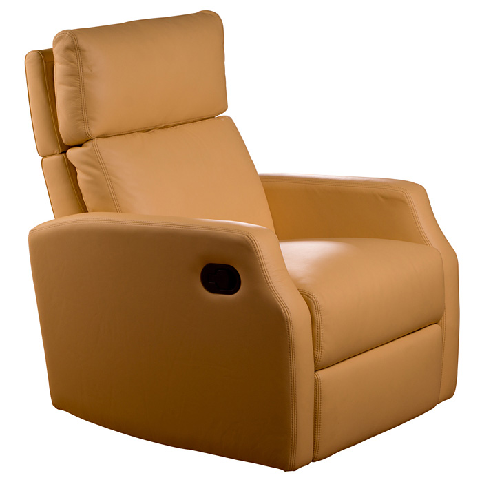 Sidney Contemporary Leather Recliner Chair Swivel