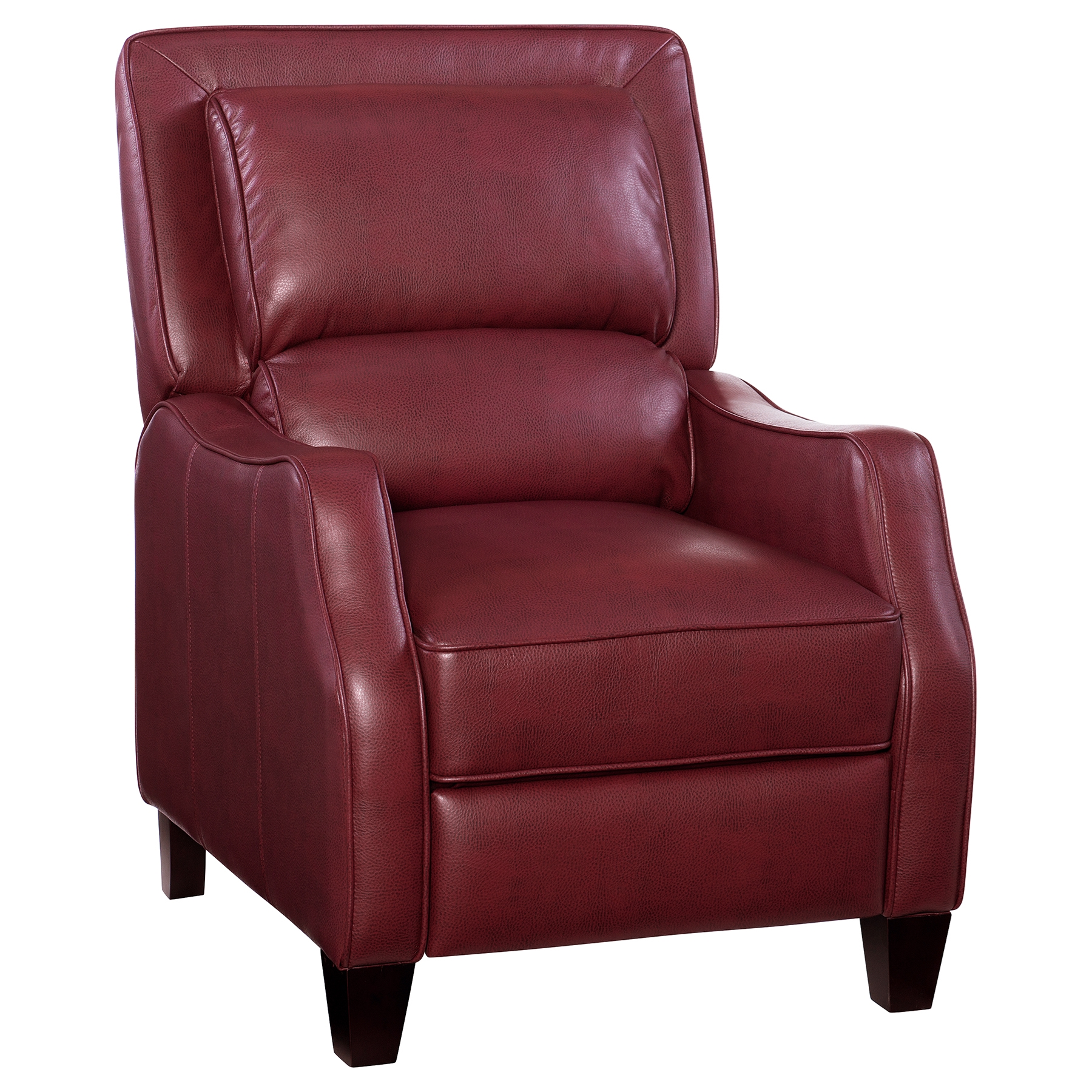 Duncan Leather Recliner   Belmont Red