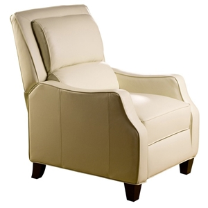 Duncan Bustle-Back Reclining Chair - Emerson Cream Leather