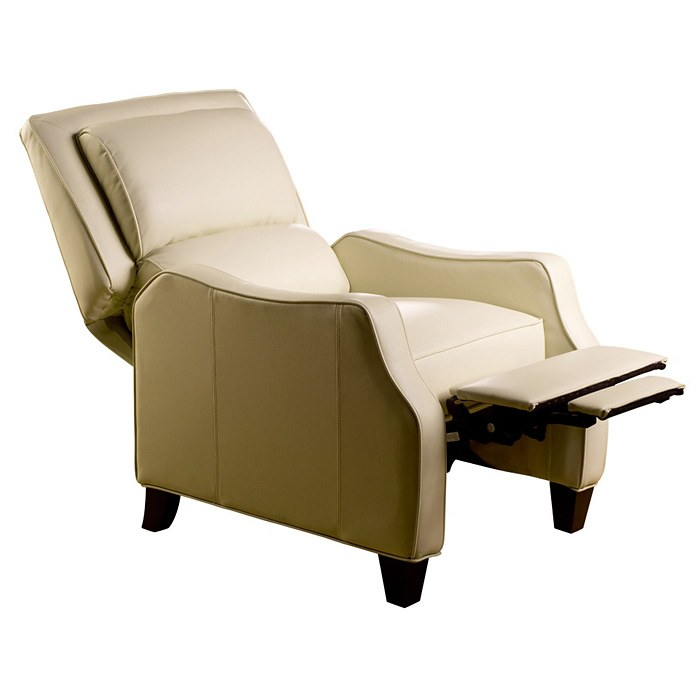 Duncan Bustle-Back Reclining Chair - Emerson Cream Leather - OHF-150-10EMRCREME