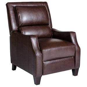 Duncan Bustle-Back Reclining Chair - Harlee Brown Leather