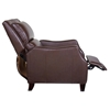 Duncan Bustle-Back Reclining Chair - Harlee Brown Leather - OHF-150-10HARBRW
