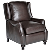 Charles Recliner Chair - Turned Feet, Baron Chocolate Leather
