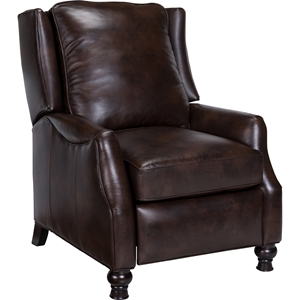 Charles Leather Recliner - Wash Off Chocolate