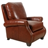Nappa Leather Recliner Armchair - Rolled Arms, Nail Heads - OHF-3387-10PAL